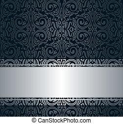Weinlese tapete silber vektor clipart suchen sie for Tapete schwarz silber