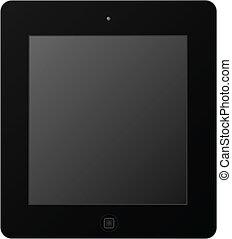 schwarz, tablette
