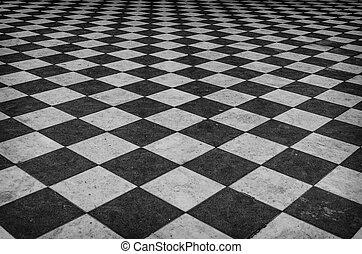 Fußboden Schwarz Weiß ~ Vinyl teppich schwarz weiss pvc boden schwarz weiß kariert fj