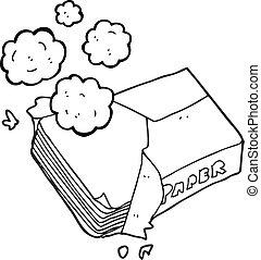 Toilette Weisses Papier Schwarz Karikatur Vektor Suche