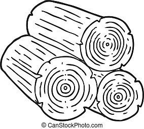 karikatur holzst mme freehand gezeichnet holzst mme karikatur. Black Bedroom Furniture Sets. Home Design Ideas