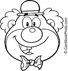 Lustiges Kopf Clown Lustiges Kopf Bunte Abbildung Clown Hut