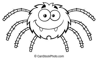 lustiges spinne halloween spinne abbildung insekt vektor gl cklich. Black Bedroom Furniture Sets. Home Design Ideas