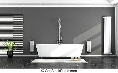 Schwarz Weiß, Modern, Badezimmer