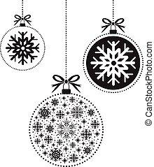kugel wei es schwarz hand drawn weihnachten sch ne jahreszeiten vektor fr hlich. Black Bedroom Furniture Sets. Home Design Ideas