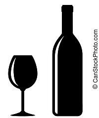 glas sektflasche abstrakt etikett glas flasche leer. Black Bedroom Furniture Sets. Home Design Ideas