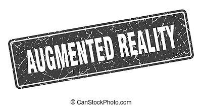 schwarz, weinlese, label., zeichen, augmented, stamp., ...