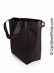 schwarz, wiederverwendbar, einkaufstüte