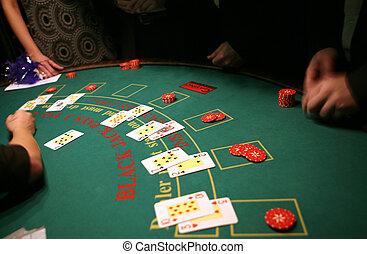schwarze steckfassung, in, kasino