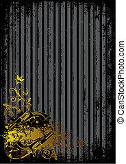 schwarzer hintergrund, mit, goldenes, gewehre