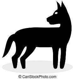 schwarzer hund, ikone