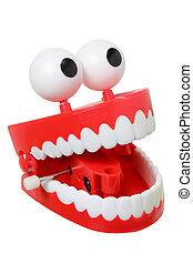 schwatzen zähnen