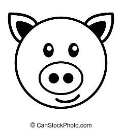 schwein, karikatur