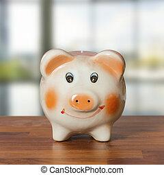 Schweinchen,  bank