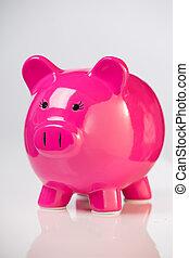 schweinchen, bank.