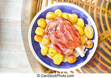 schweinefleisch, schaft