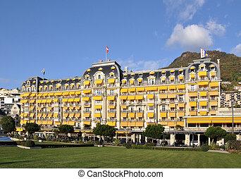 schweiz, hotel, luxus, montreux