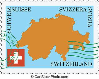 schweiz, posta, to/from