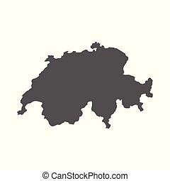 Schweiz Karte Schwarz Weiss.Landkarte Freitag Schwarz Schweiz Weisses Landkarte