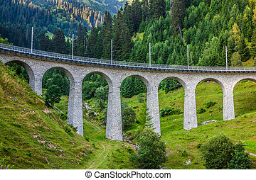 schweizisk, railway., switzerland.