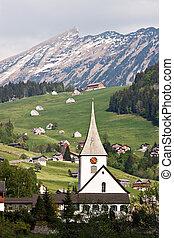 schweiziska fjälläng