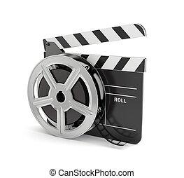 schwengel, Spule, Brett,  Film
