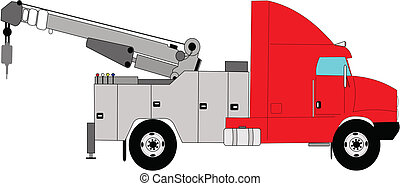 schwere pflicht, lastwagen, schleppen