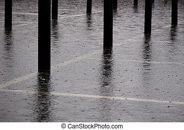 schwerer regen