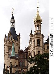 schwerin, hofburg, deutschland