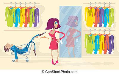 schwierig, kleiden
