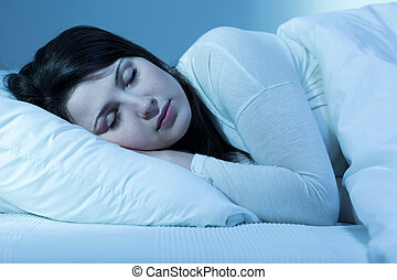schwierig, zu, herbst, schlafend