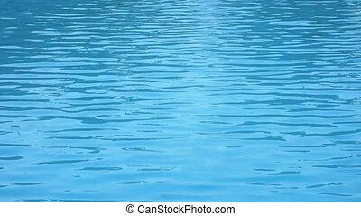 schwimmbad, oberfläche, caustics, kräuselung, mögen, meerwasser, und, fließen, mit, wellen, bewegung, hintergrund, schleife, seamless, bereit