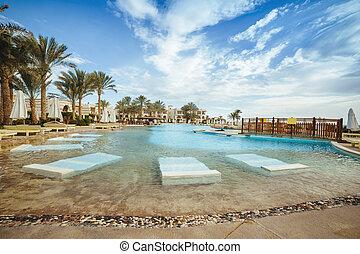 schwimmbad, von, luxushotel