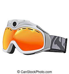schwimmbrille, ski