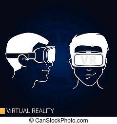 schwimmbrille, virtuelle wirklichkeit