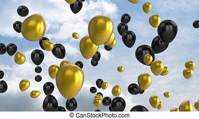 schwimmend, luftballone