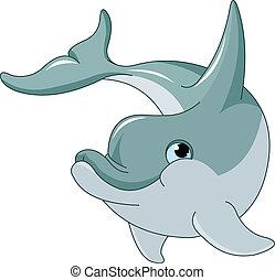 schwimmender, delfin