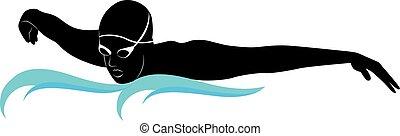 schwimmer, athleten
