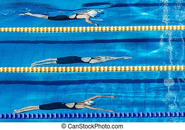 schwimmer, konkurrenz