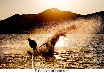 sci acqua, silhouette