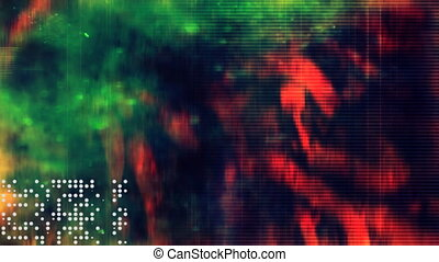 Sci-Fi Abstract in Red and Green