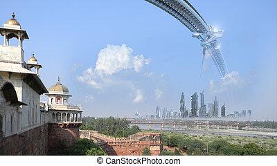 Sci-fi architecture composite - Science fiction...