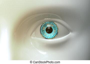 Sci-fi Artificial Eye Plastic Model