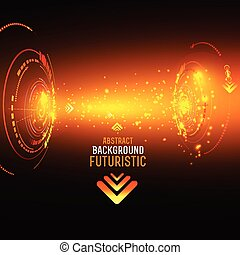 Sci fi Futuristic user interface, HUD, technology vector background