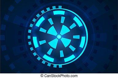 Sci fi futuristic user interface HUD