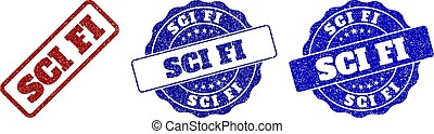 SCI FI Grunge Stamp Seals