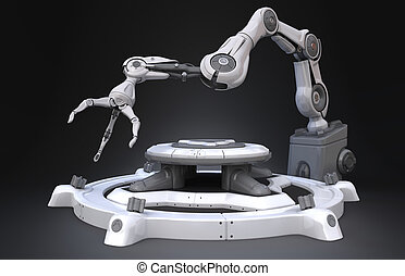 Sci-Fi Industrial robot arm
