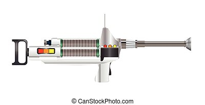 Sci-Fi Laser Rifle - A sci-fi phaser type lazer rifle over a...