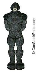 Sci Fi Man - Science fiction man wearing battle armour