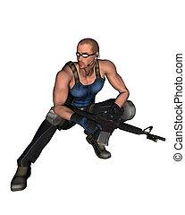 Sci-Fi Mercenary - 2 - Futuristic science fiction style...